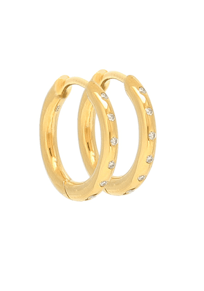 Diamond Flush gold-plated hoop earrings