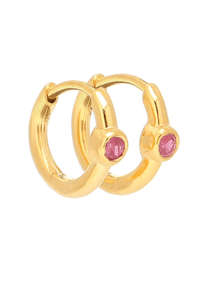 Ruby Health gold-plated hoop earrings