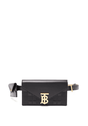 Burberry - Tb-logo Quilted Leather Belt Bag - Womens - Black