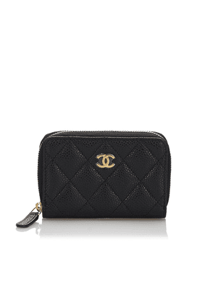 Quilted Caviar Leather Coin Purse
