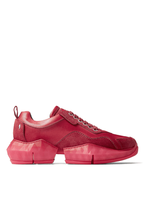 DIAMOND/M Berry Ink Dipped Sport Calf and Suede Trainers