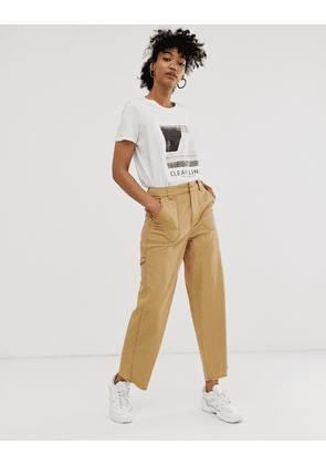 ASOS DESIGN carpenter trouser in sand-Stone