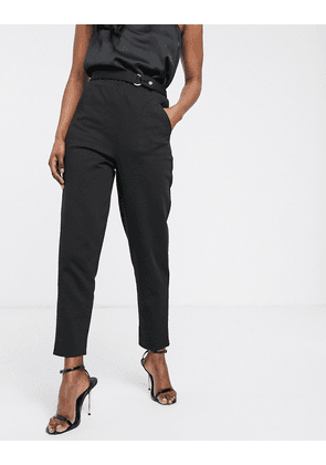 ASOS DESIGN smart slim trouser in ponte-Black