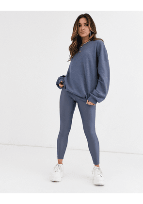 ASOS DESIGN co-ord disco legging-Blue