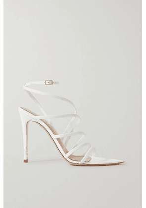 Gianvito Rossi - 105 Patent-leather Sandals - White