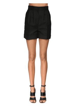 High Waist Cotton & Silk Shorts