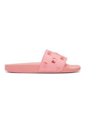 Gucci Pink GG Pool Slides
