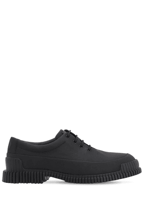 Matte Leather Lace-up Shoes