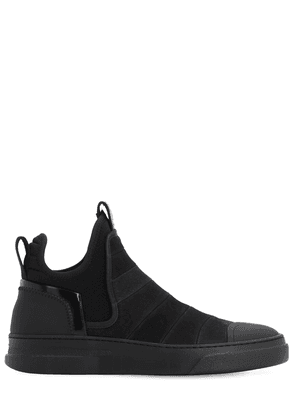 Dreamer Washed Leather High Top Sneakers