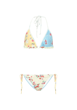 Riveria floral triangle bikini