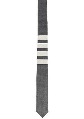 Thom Browne Classic 4 Bar Tie in Medium Grey - Gray. Size all.