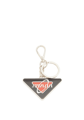Prada - Enamel Logo Key Ring - Mens - Black Red