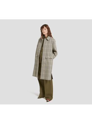 Mulberry Willow Coat in Military Tartan Check Toile
