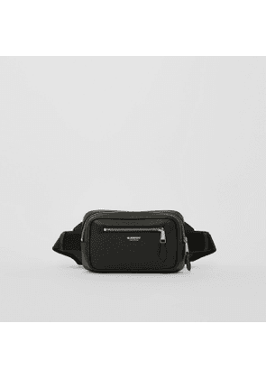 Burberry Grainy Leather Bum Bag, Black