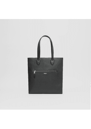 Burberry Medium Grainy Leather Tote, Black