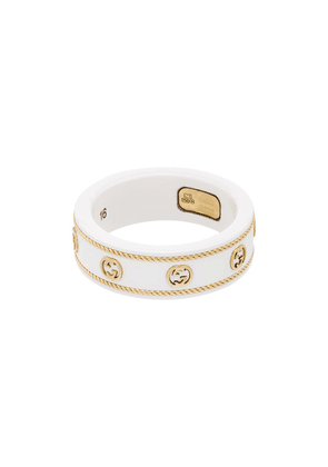 Gucci 18kt yellow gold GG logo ring