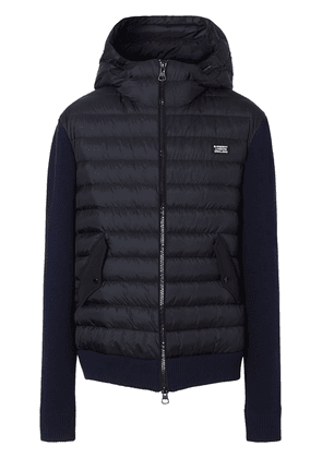 Burberry hooded padded jacket - Blue