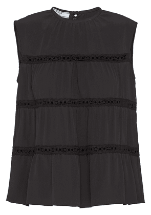 Prada flared tiered top - Black