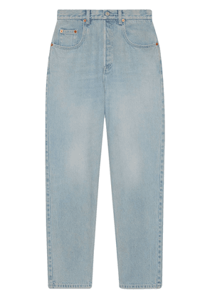 Gucci x Disney Mickey patch tapered jeans - Blue