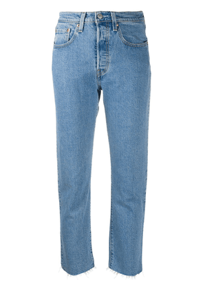 Levi's 501 high-rise straight jeans - Blue