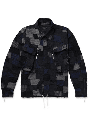 99%IS- - Patchwork Embroidered Stretch-nylon And Mesh Jacket - Black