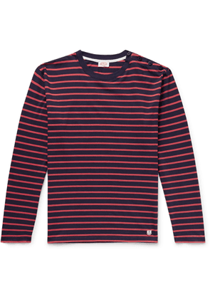 Armor Lux - Striped Cotton T-shirt - Red