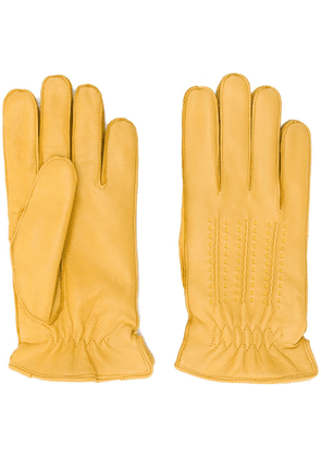 Orciani stitching detail gloves - Yellow