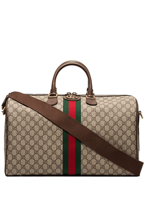 Gucci GG Supreme holdall - Brown