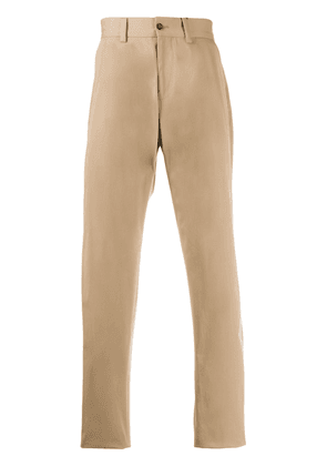 Dolce & Gabbana pleated stretch-cotton trousers - NEUTRALS