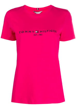 Tommy Hilfiger cotton logo embroidered T-shirt - PINK