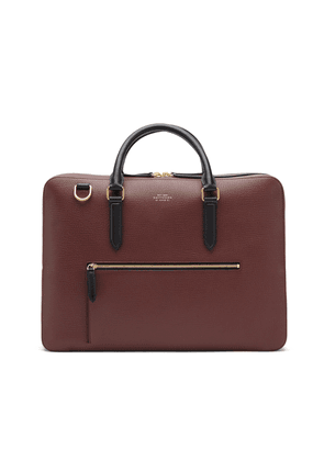 Smythson Ludlow Large Briefcase with Zip Front