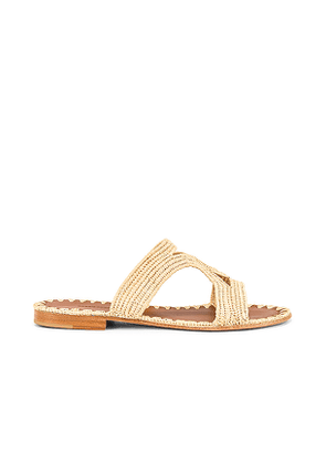 Carrie Forbes Moha Slide in Beige,Cream. Size 39.