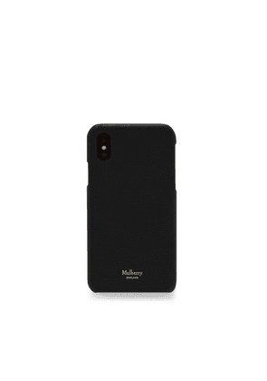 Mulberry iPhone X/XS Cover in Black Cross Grain Leather