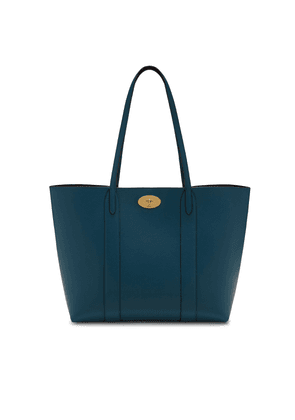 Mulberry Bayswater Tote in Deep Sea Small Classic Grain