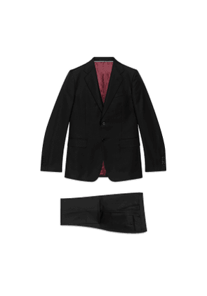 Straight fit wool suit