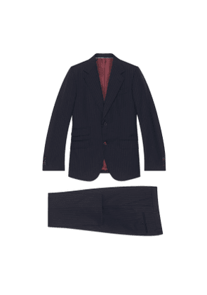 Fitted Gucci pinstripe suit