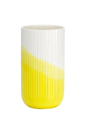 Herringbone Ribbed Vase
