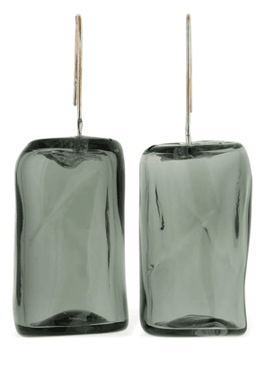 Ice Cube Glass Earrings