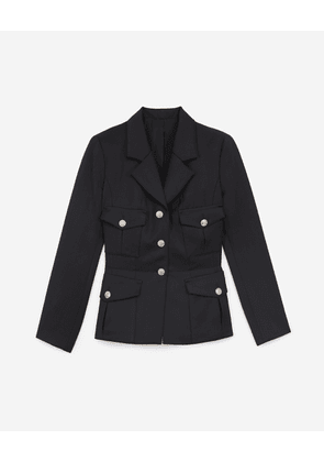 The Kooples - Fitted stretchy black jacket - WOMEN
