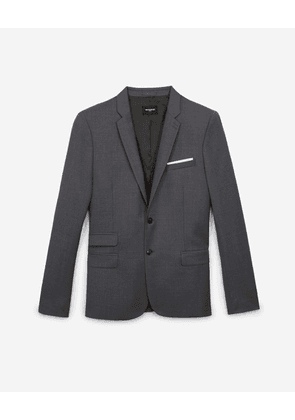 The Kooples - Grey formal wool jacket with notched lapels - MEN