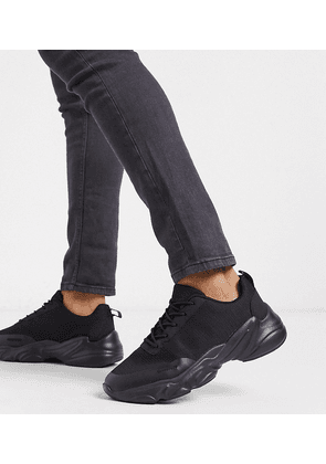 ASOS DESIGN Wide Fit trainers in black mesh