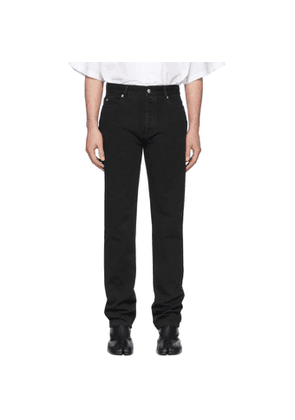 Maison Margiela Black Garment-Dyed Straight-Leg Jeans