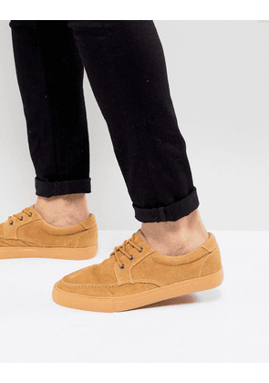 ASOS Boat Shoes In Stone Cord