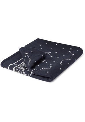 Best Made Company - The Anniversary Axe Wool and Cotton-Blend Blanket - Men - Blue