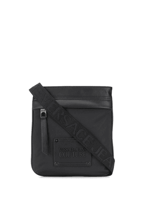 Versace Jeans Couture logo patch shoulder bag - Black