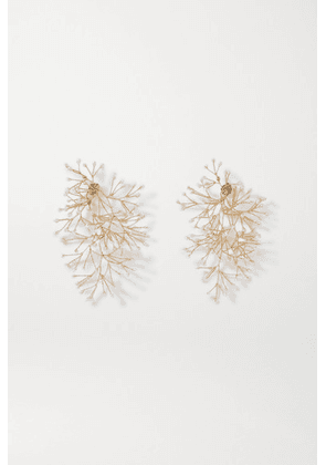 14 / Quatorze - Gold-tone Pearl Earrings - one size