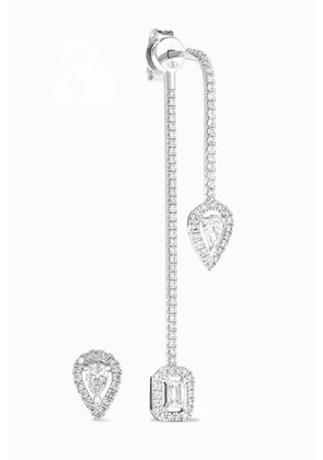 Messika - My Twin 18-karat White Gold Diamond Earrings - one size