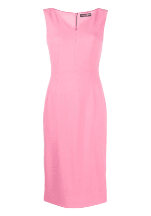 Dolce & Gabbana fitted midi dress - PINK