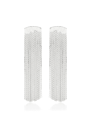 Grand Fil d'Argent sterling silver-plated earrings