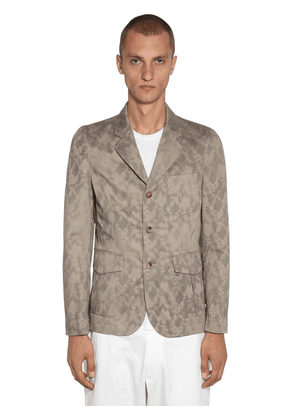 Stencil Print Cotton Twill Jacket